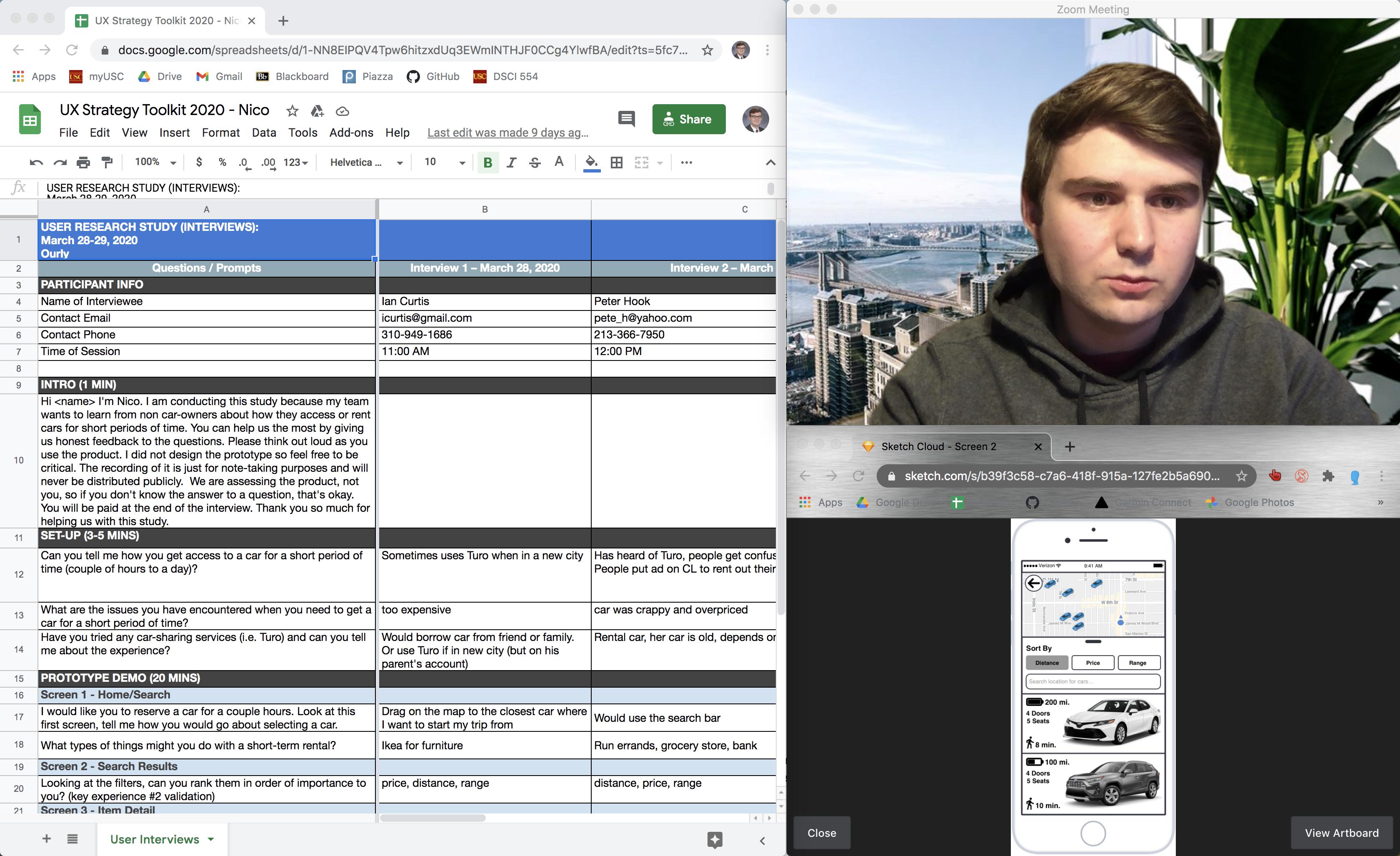 onlline user research setup